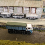 David has created a superb model here of a Leyland Octopus LEY6 SWB 8 Wheel tipper in the livery of Heavy Transport a part of the Cornish China Clays group, they ran a large fleet of these lorries on local haulage until the late 60s.