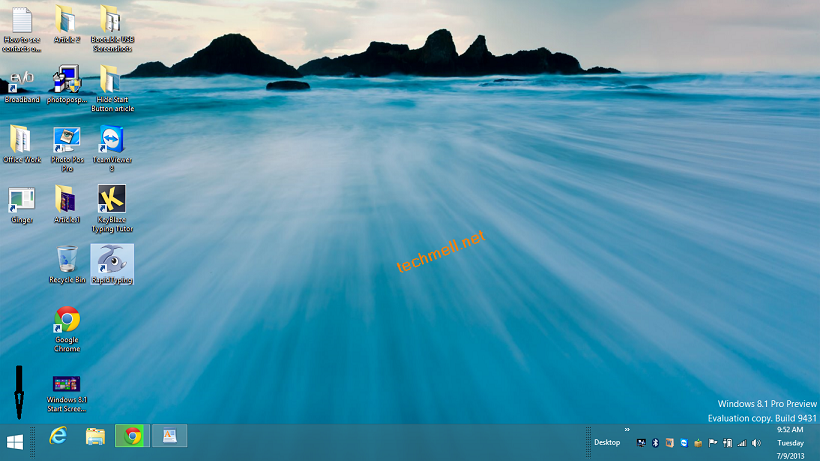 Start Button in Windows 8.1