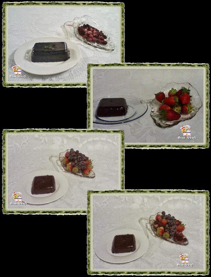 Doce de frutas vermelhas em barra