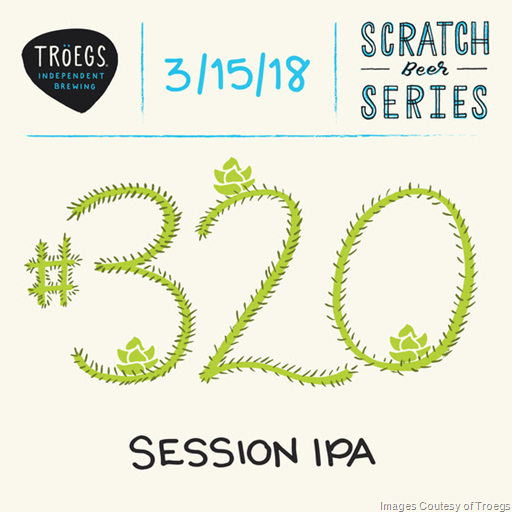 Troegs Releasing Scratch # 318 DIPA, 319 Fest Lager & 320 Session IPA…