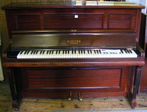 rogers upright piano 1920s for sale bedhampton piano shop. Black Bedroom Furniture Sets. Home Design Ideas