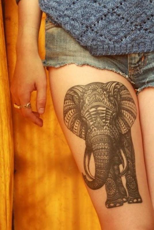 ornamentais_elefante_coxa_tatuagem_para_as_meninas