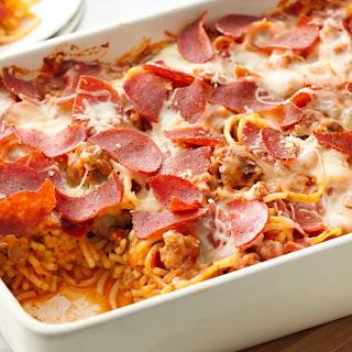 Pepperoni Pasta Casserole.