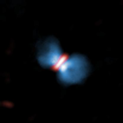 ejeção de gás da protoestrela massiva Orion KL Source I