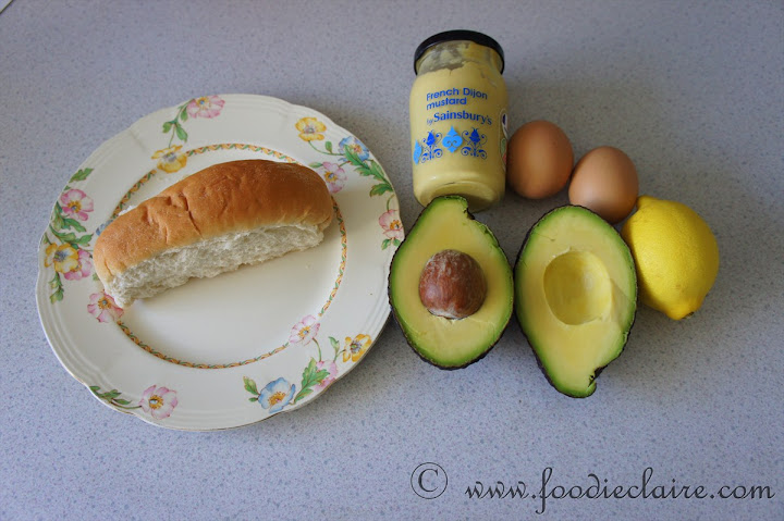 Ingredients for my Avocado Egg Roll