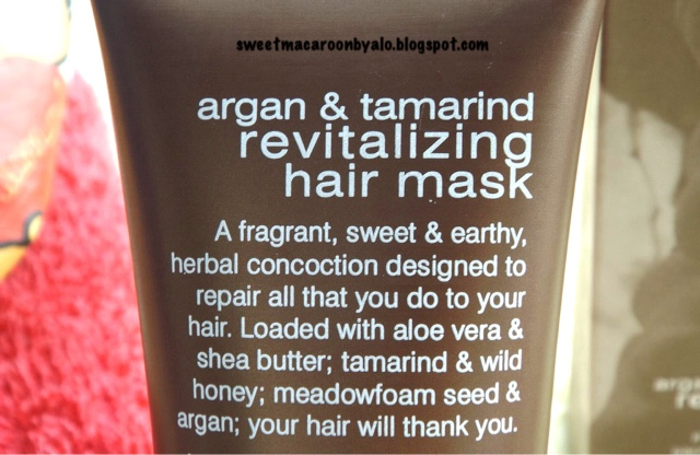 Sensatia Botanicals Argan & Tamarind Revitalizing Hair Mask