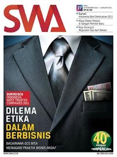 """Artikel """"siapa dia"""" majalah swa edisi 8/2014."""