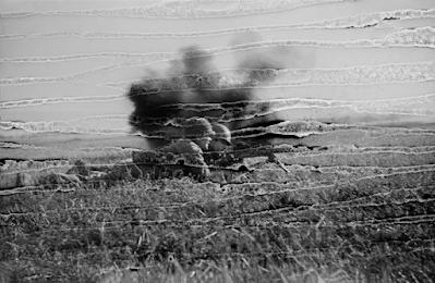 battlefield scene in Rhineland in WWII