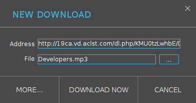 Tampilan Download