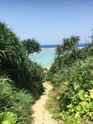 The Entrance to Maeda beach. Is there a view more perfect than this?