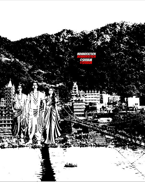 Ram, Laxman, Seeta, Laxman Jhula, Rishikesh, Maryada Purshotam Ram, Ayodhya, Graphics, Image, Devotion