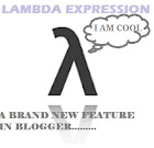 Lmbda expressions in blogger