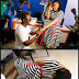 Photo: Excited lady goes flat on the floor after her boyfriend proposed to her