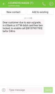 Major messages scammers do to get bank Account bvn