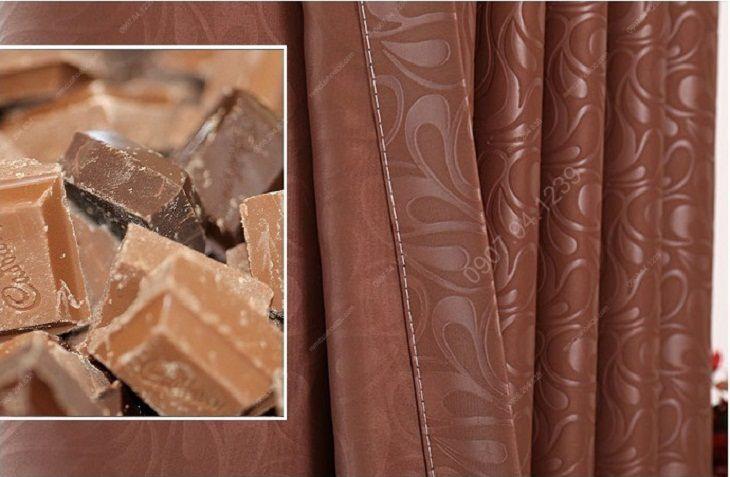 Rèm cửa cao cấp hà nội một màu socola tráng cao su 6