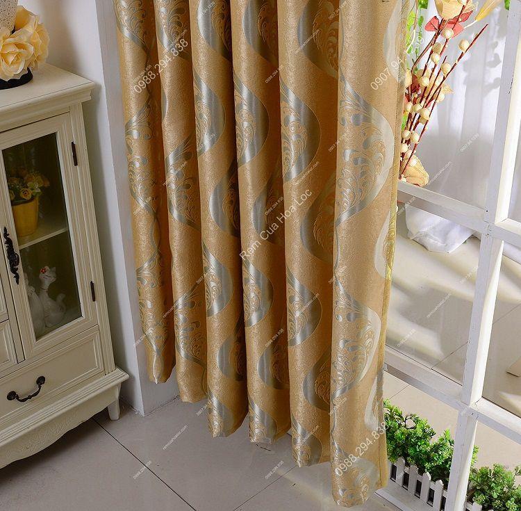 Rèm cửa cao cấp đẹp vàng ánh bạc 16