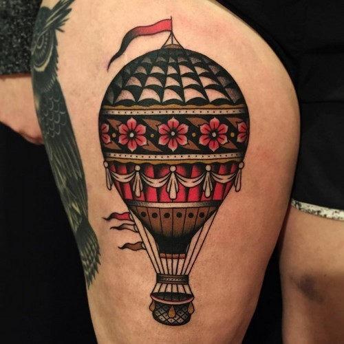 este_florido_de_balo_de_ar_quente_tatuagem