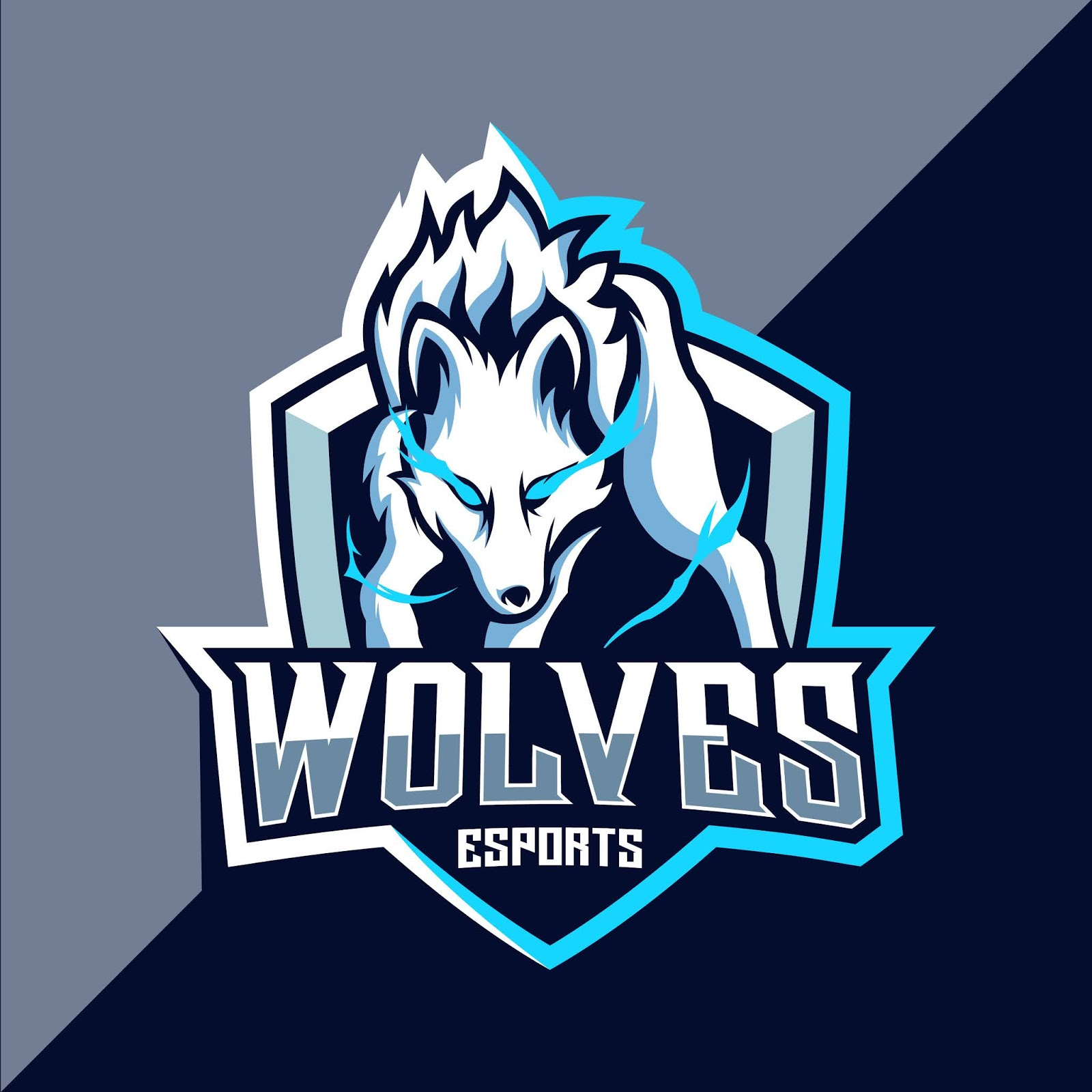White Wolf Esport Logo Free Download Vector CDR, AI, EPS and PNG Formats