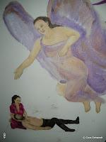 Ein Engel segnet das Heilgeschehen