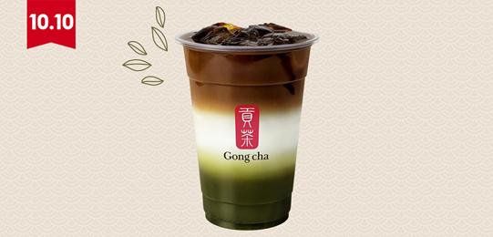 Matcha Coffee Latte