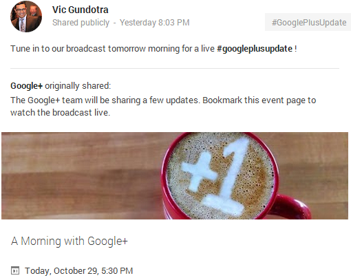 A Morning with Google+