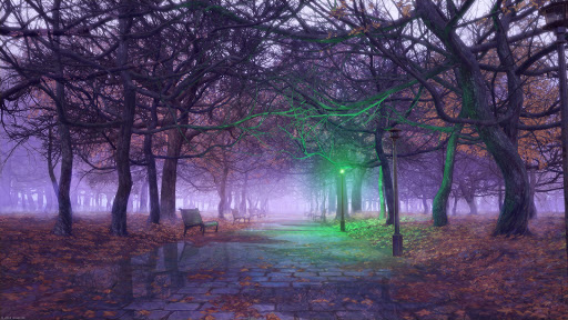 3D Park Green Light Bench
