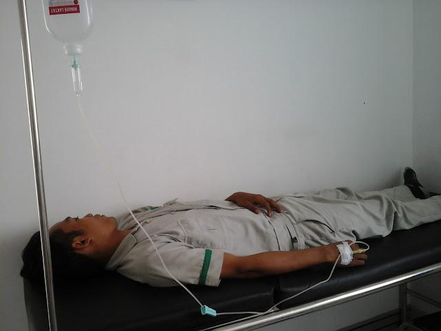 Ilustrasi seorang terserang demam tifoid