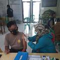 Kapolsek Sajira AKP Waluyo Beserta Seluruh Jajaran Dan PNS Kecamatan Sajira Laksanakan Vaksinasi Sinovac Covid-19