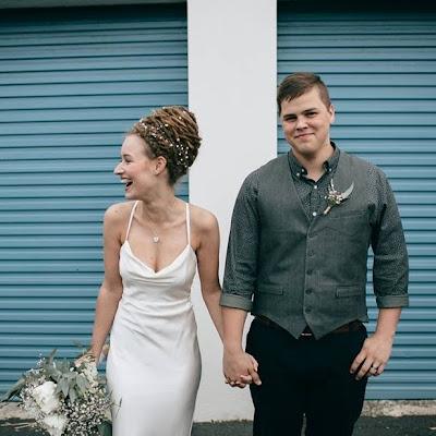 Hannah - Bias cut silk satin gown, with draped cowl neckline