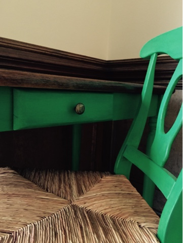 Green Desk Chalk Paint