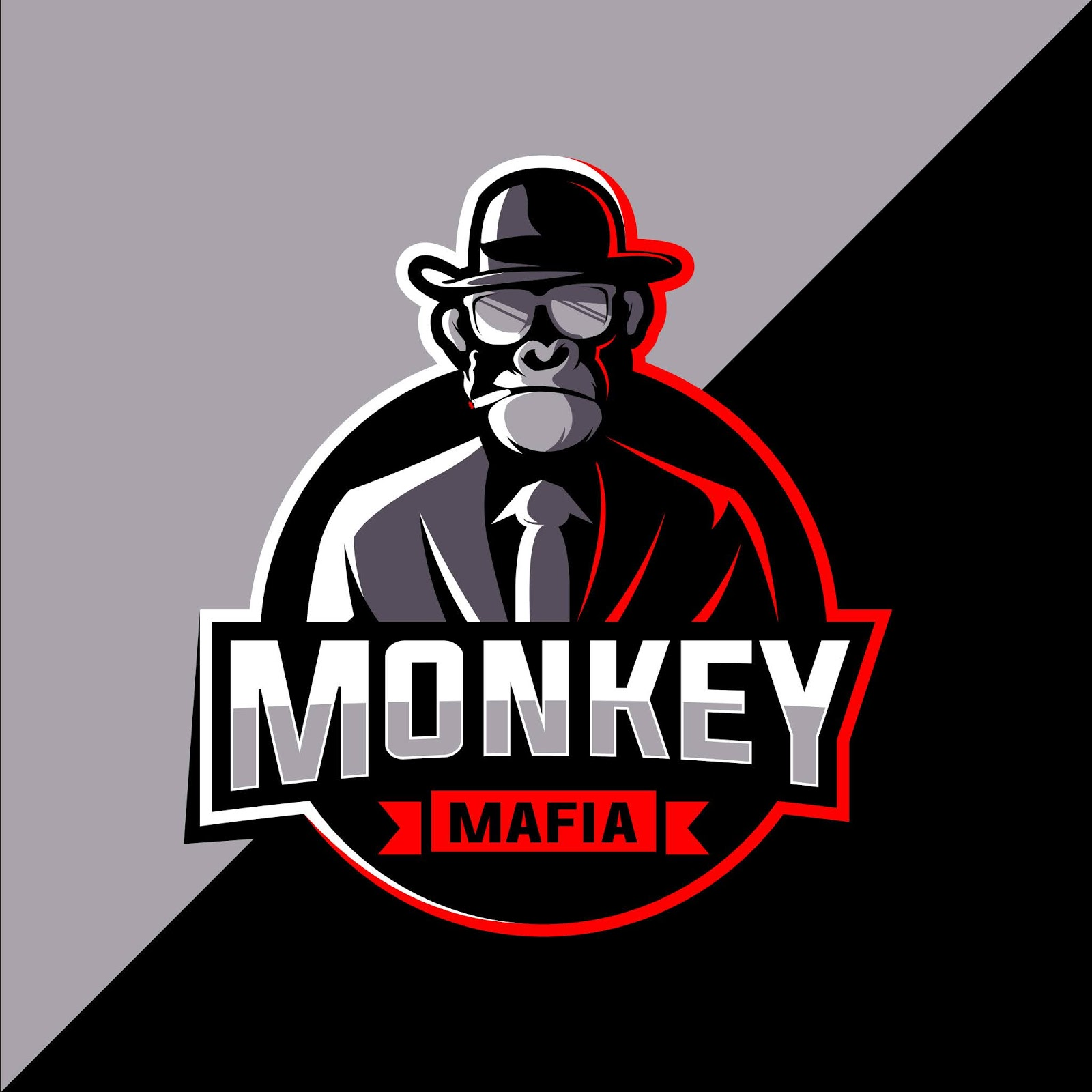 Mafia Monkey Esports Logo Design Free Download Vector CDR, AI, EPS and PNG Formats