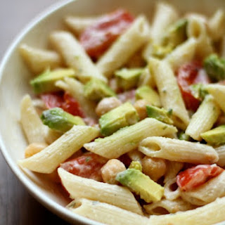 Chickpea Avocado Pasta Salad