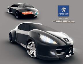 Peugeot Pulsar Concept Autó grafikai tervezés és  3D modellezés.