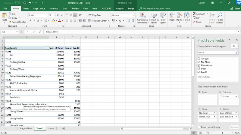 cara menyusun laporan keuangan dengan excel
