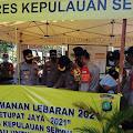 Kapolres Kep Seribu Cek 5 Pospam Ketupat Jaya-2021 Polres Kep Seribu