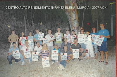 Asistentes a curso de Aoki Sensei en el CAR Infanta Cristina de Murcia, 2007