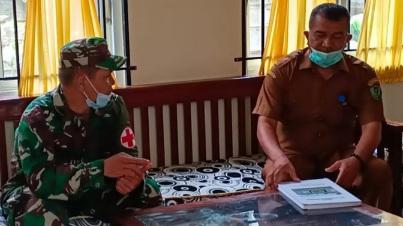 Satgas TMMD Tapsel Koordinasi dengan Kapuskesmas  Angkola Barat Bicarakan Persiapan Serbuan Vaksinasi