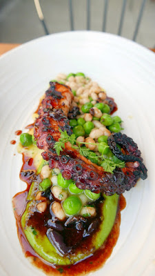 Renata Grilled Octopus with English peas, olive, mint