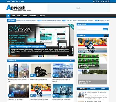 Apriezt free blogger template