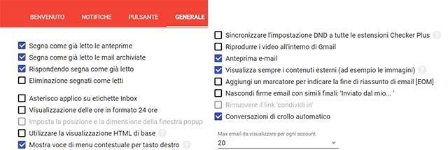 impostazioni-generali-checker-for-gmail