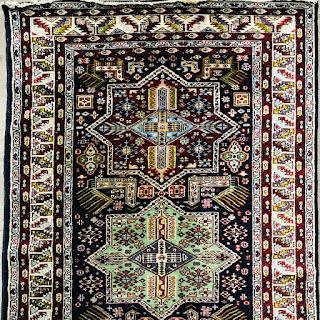 Wool & Silk Star Medallion Area Rug