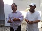 Mehdi Flores y el director de la cadena de TV Arabia