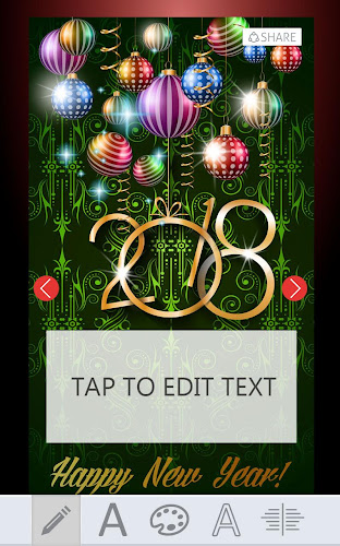 2018 new year greeting cards android app screenshot