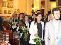 A Mariánum végzősei a Szent András templomban.jpg