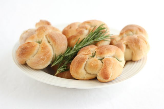 photo of a plate of Rosemary Bread Knots