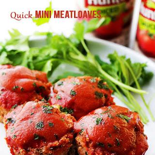 Quick Mini Meatloaves