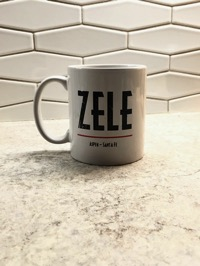 Coffee mug with the name Zele printed on it