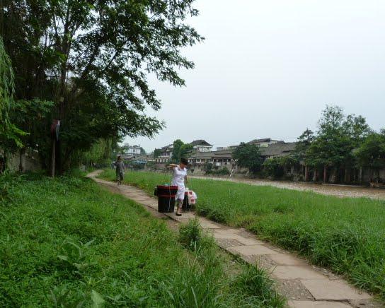 CHINE.SICHUAN.PING LE à 2 heures de Chengdu. Ravissant .Vallée des bambous - P1070540.JPG
