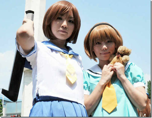 higurashi no naku koro ni cosplay - ryuga rena and houjou satoko from summer comiket 2011