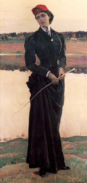 Mikhail Nesterov - Portrait of Olga Nesterova, The Artist's Daughter